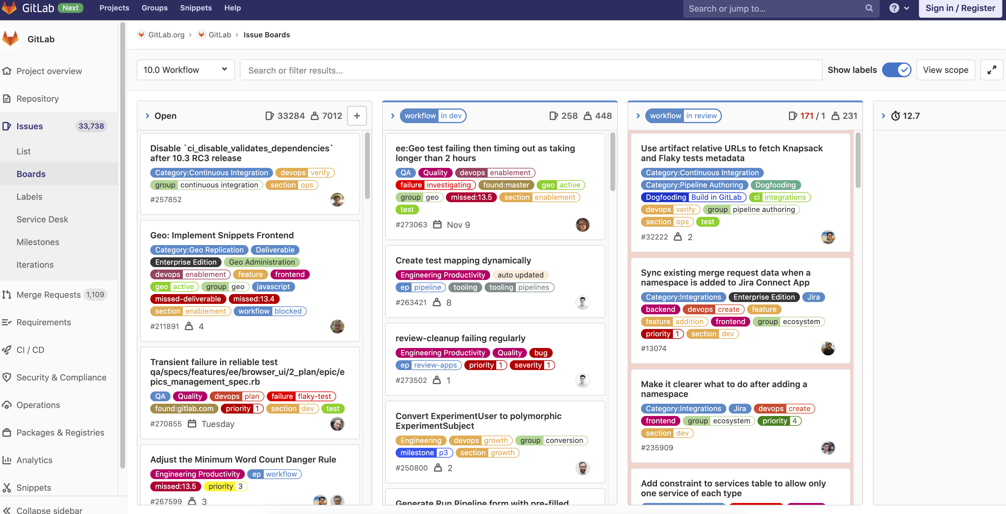 GitLab board view graphic