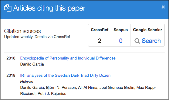 PeerJ citations list